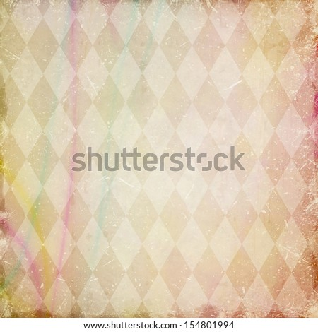 grunge background with harlequin pattern - stock photo