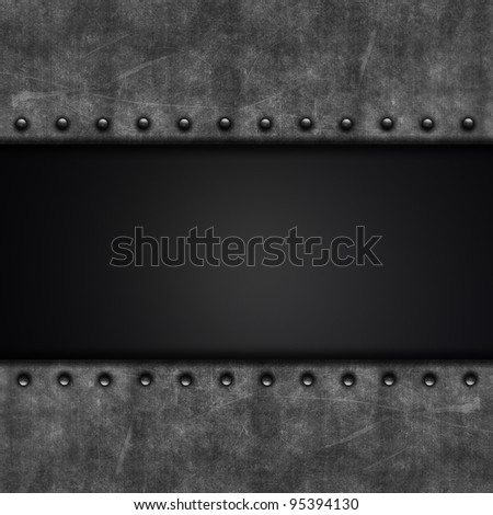 Grunge background with metal texture and carbon fibre