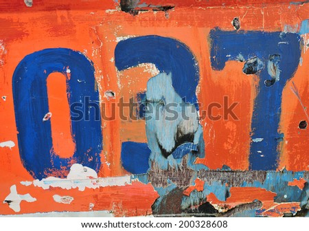 Grunge background with number - stock photo