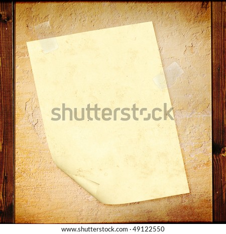 Grunge background with paper sheet