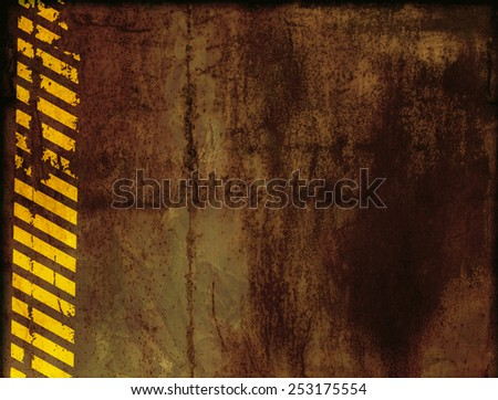 Grunge background with rusty metal texture - stock photo