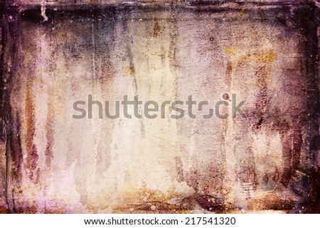 Grunge background with soft colors and dark border. Faded central area for copy space.  - stock photo
