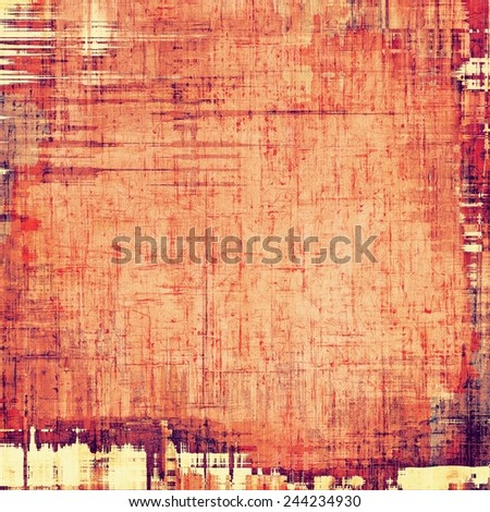 Grunge background with vintage and retro design elements. With different color patterns: purple (violet); yellow (beige); red (orange) - stock photo
