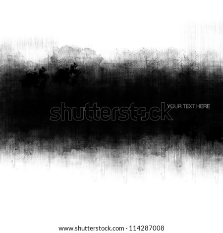 Grunge banner with copy space - stock photo