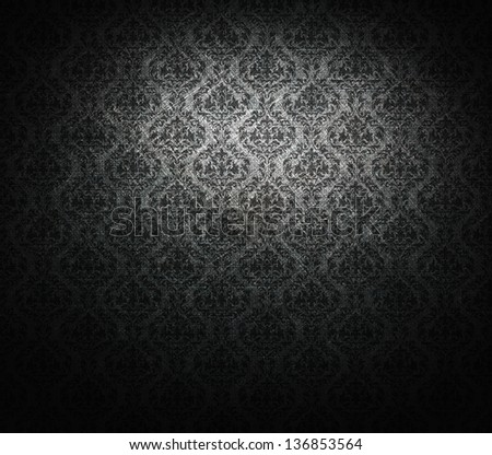 grunge baroque wallpaper. - stock photo