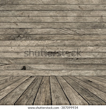 grunge beige brown cream of wood stripe with wooden panel plank perspective background:vintage of plywood tile backdrop with tabletop:show/advertising/promote product/goods on display:room interior - stock photo