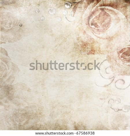 Grunge beige  wedding background - stock photo