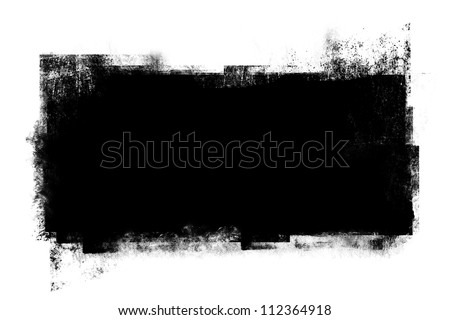 Grunge black banner for your designs. - stock photo