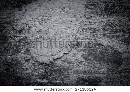 Grunge black dirty cracked wall, urban texture - stock photo