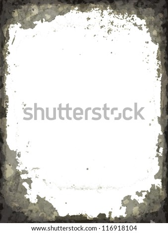 Grunge black gray abstract  frame - stock photo