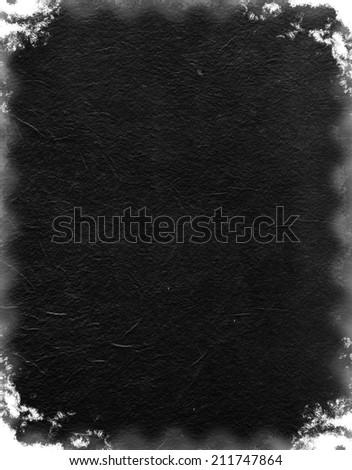 Grunge black texture like negative film - stock photo