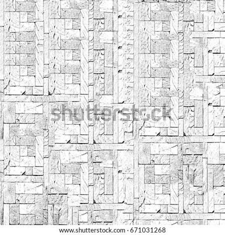 The Texture Of Bricks Circles Lines Cracks