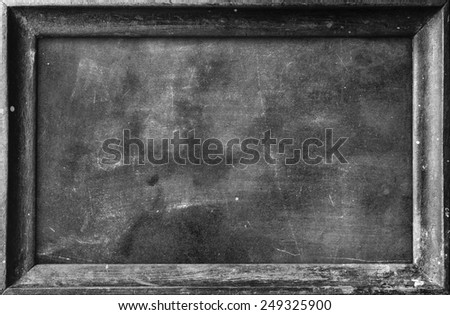 Grunge blank old wood black board or dirty slate board, Food Menu, List, Calendar, Classroom, Training, Remind, Drawing, Preaching, Teacher Day, Note Teaching, Brainstorm, Post concept - stock photo