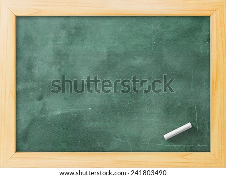 Grunge blank old wood green board or dirty slate board, white chalk. Food Menu, List, Calendar, Classroom, Training, Remind, Drawing, Preaching, Teacher Day, Note Teaching, Brainstorm, Post concept - stock photo