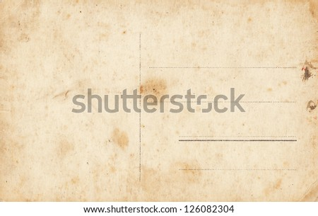 Grunge blank postcard - stock photo