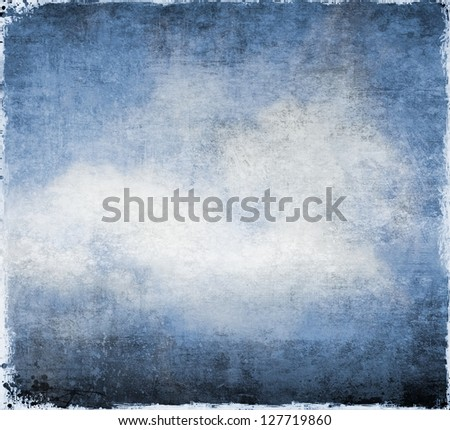 Grunge blue abstract background or texture - stock photo