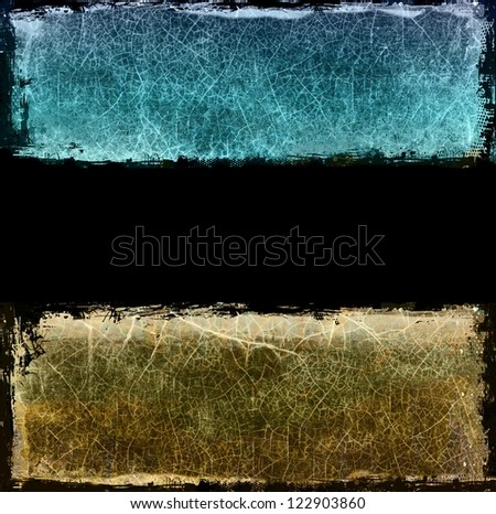 Grunge blue and sepia background - stock photo