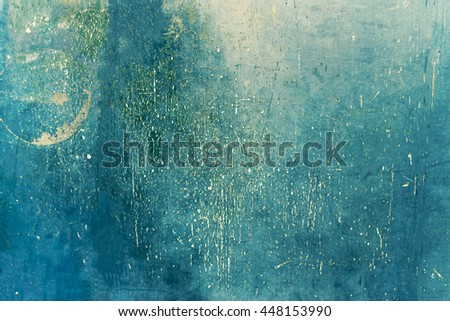 Grunge blue background. Dark green grunge wall - Great textures for your design. - stock photo