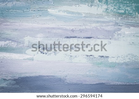 Grunge blue  background. Oil painting on canvas. Violet  texture. Fragment of artwork. Spot of oil paint. Brushstrokes of paint. Modern art. Contemporary art.