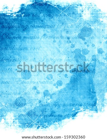 grunge blue background with some spots and stains on it - stock photo