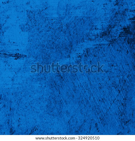 Grunge blue wall background or texture - stock photo