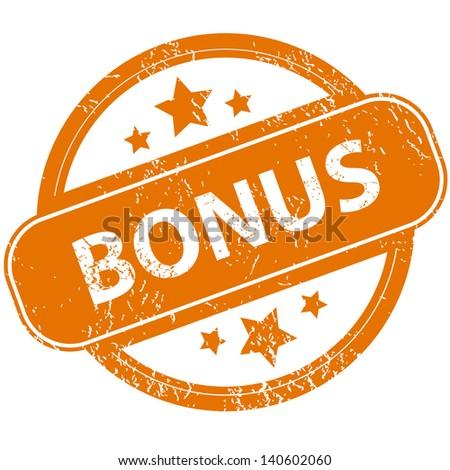 Grunge bonus logo on a white background - stock photo