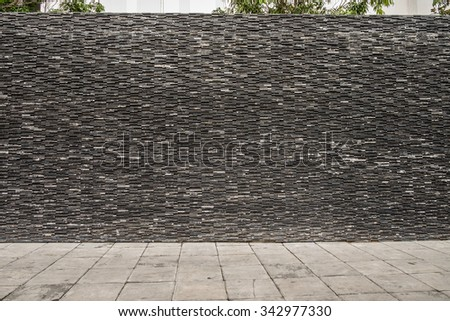 Grunge brick wall background, Grunge brick wall and Cement Floor for Copy Space