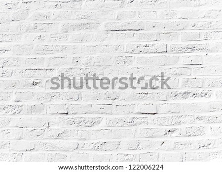 grunge brick wall of an old house in detail - stock photo