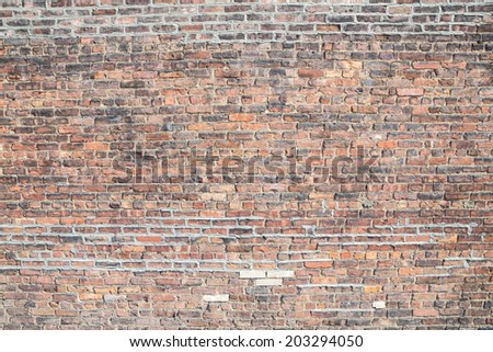 grunge brick wall using as background - stock photo