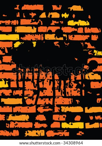 Grunge Brickwall Design With Space For Text (in the gallery also available vector version of this image)