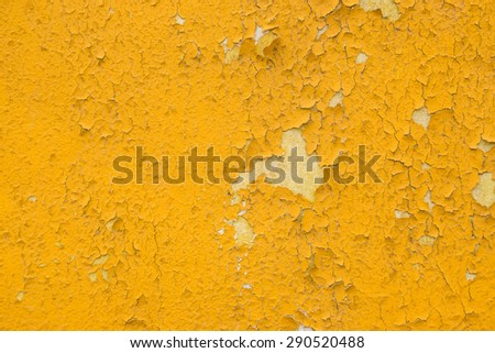 Grunge bright background with cracks and grain. Brick wall with the colored whitewash as a background texture  - stock photo