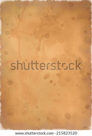 Grunge bright brown paper with burned edges - stock photo