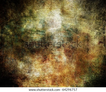 Grunge brown background, torn scratched surface, old texture - stock photo