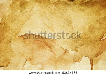 Grunge brown paper texture (water color background) - stock photo
