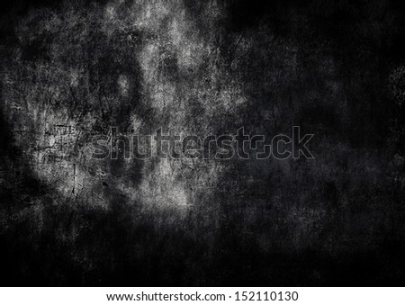Grunge brown wall background - stock photo
