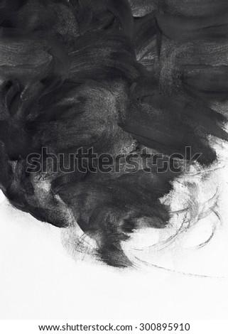 grunge brush strokes paint design background - stock photo