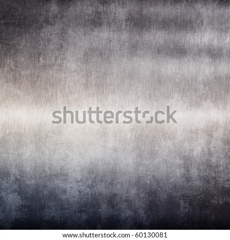 Grunge brushed metal plate (Industrial iron background) - stock photo