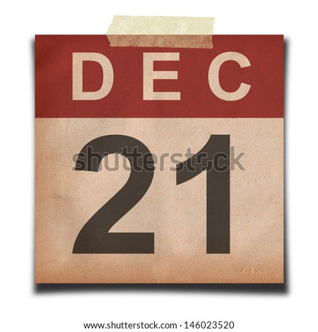 Grunge calendar for december on white background - stock photo