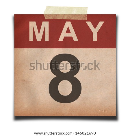 Grunge calendar for May  on white background - stock photo