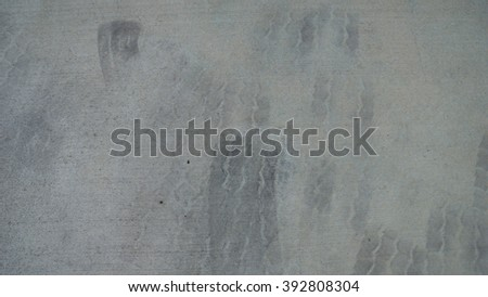 grunge cement ground tire mark