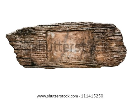 Grunge cement sign isolated on white background with clipping path - stock photo