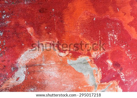 grunge cement wall texture -  surface rough border concrete red decay grey background - stock photo