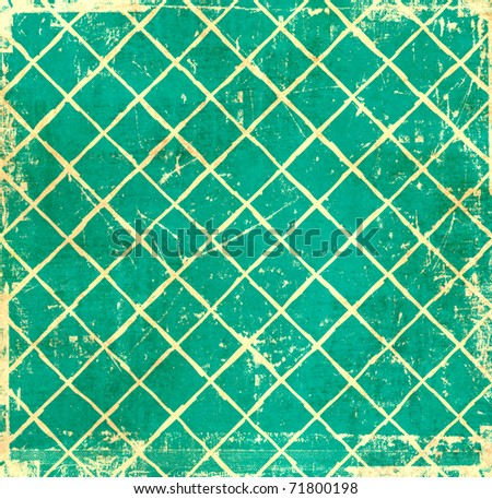 Grunge checkered background - stock photo
