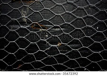 Grunge Chicken Wire Fence Texture Stock Photo (Download Now ...