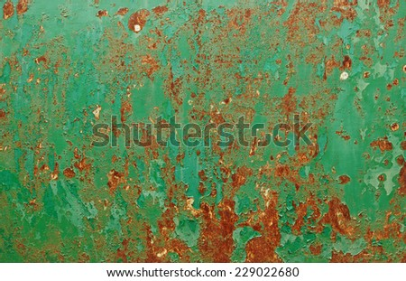 grunge chipped paint rusty textured metal - stock photo