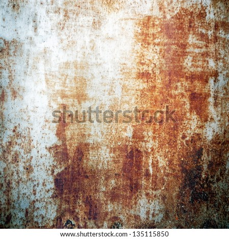 grunge chipped paint rusty textured metal background - stock photo