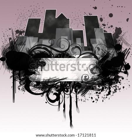 Grunge city. - stock photo