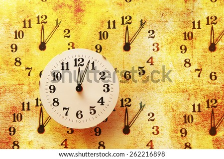 Grunge Clocks - stock photo