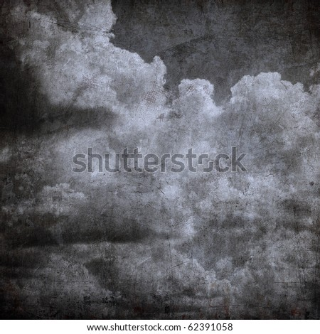 grunge cloudy sky, perfect halloween background - stock photo