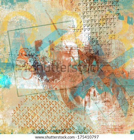 grunge collage with abstract elements